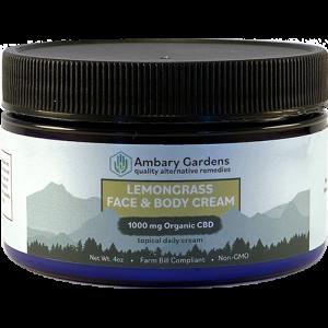 Lemongrass Face and Body 1000mg Topical CBD Cream
